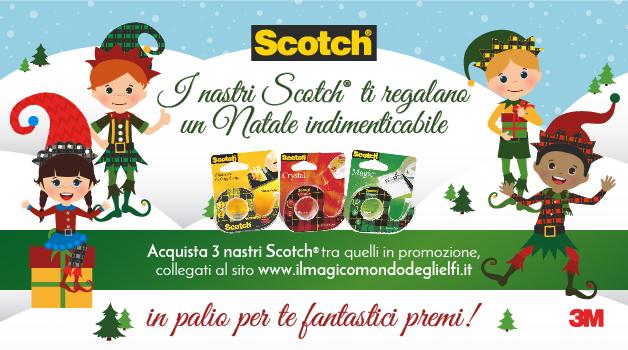 3M Promozione Scotch Elfi Natale 2016