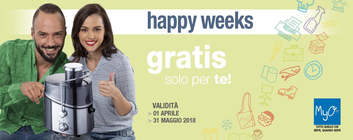 Happy Weeks Aprile Maggio 2018