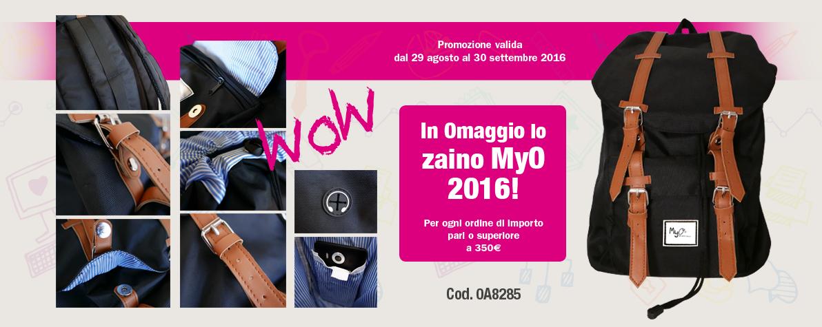 Promozione zaino MyO 2016!