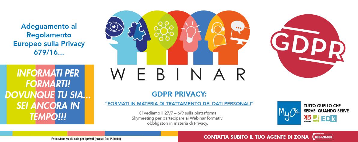 WEBINAR GDPR PRIVACY 27 luglio 2018
