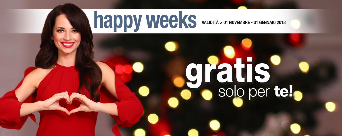 Happy Weeks Novembre Dicembre Gennaio 2017 / 2018